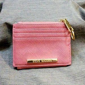 Little pink Steve Madden wallet/card holder